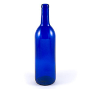 750 ml Cobalt Blue Bordeaux Bottle, Case of 12