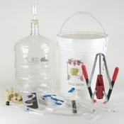 Gold Complete Wine Equipment Kit w/6 Gallon PET Carboy