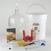 Gold Complete Beer Equipment Kit w/5 Gallon Glass Carboy