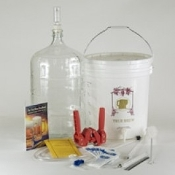 Gold Complete BEER Equipment Kit w/6 Gallon Glass Carboy